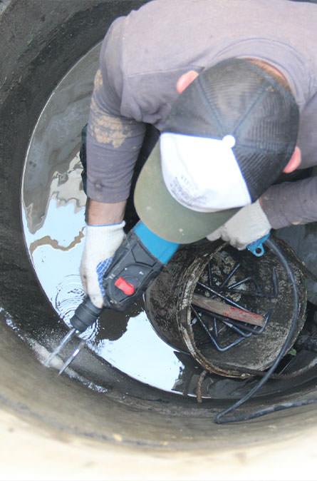 Как мы выполняем ремонт колодцев в Коломенском районе